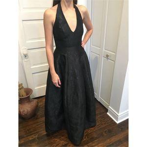 Halston Heritage Black halter formal dress 0/2